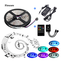 5m 5050 Music RGB LED Strip Light Flexible SMD Strips Lighting +Music control+ 12V 5A transformer