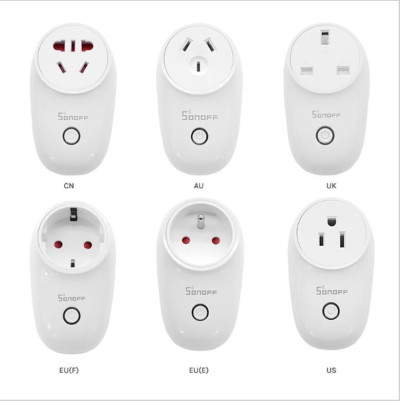 SONOFF S26 WiFi Socket Wireless Plug EWeLink APP Remote Control Timer Outlet Power Smart Home Switch Work With Google Alexa