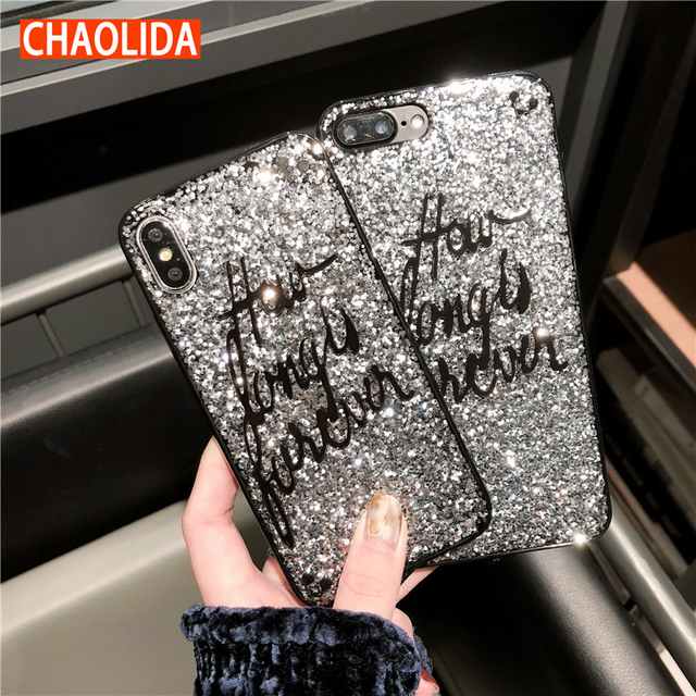 CHAOLIDA Wholesale Bling Gliter Handphone Case Accessories for Iphone X 6  6s 6plus 7 7plus 8 8plus TPU Soft Telephone Covers 9f63476bb4b2