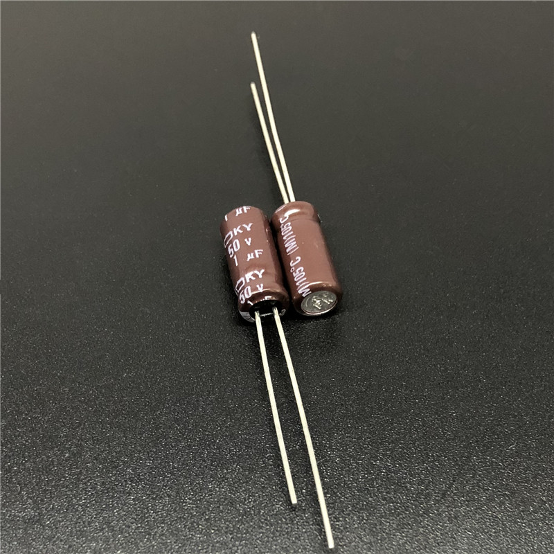50pcs 1uF 50V NIPPON NCC KY Series 5x11mm Low ESR 50V1uF Aluminum Electrolytic Capacitor