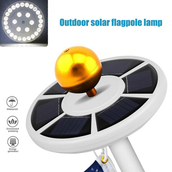26 LEDs Solar Power Flag Pole Lights Weatherproof Flagpole Downlight Auto On/Off Night Lighting with Solar Panel ALI88  sc 1 st  AliExpress.com & 26 LEDs Solar Power Flag Pole Lights Weatherproof Flagpole Downlight ...