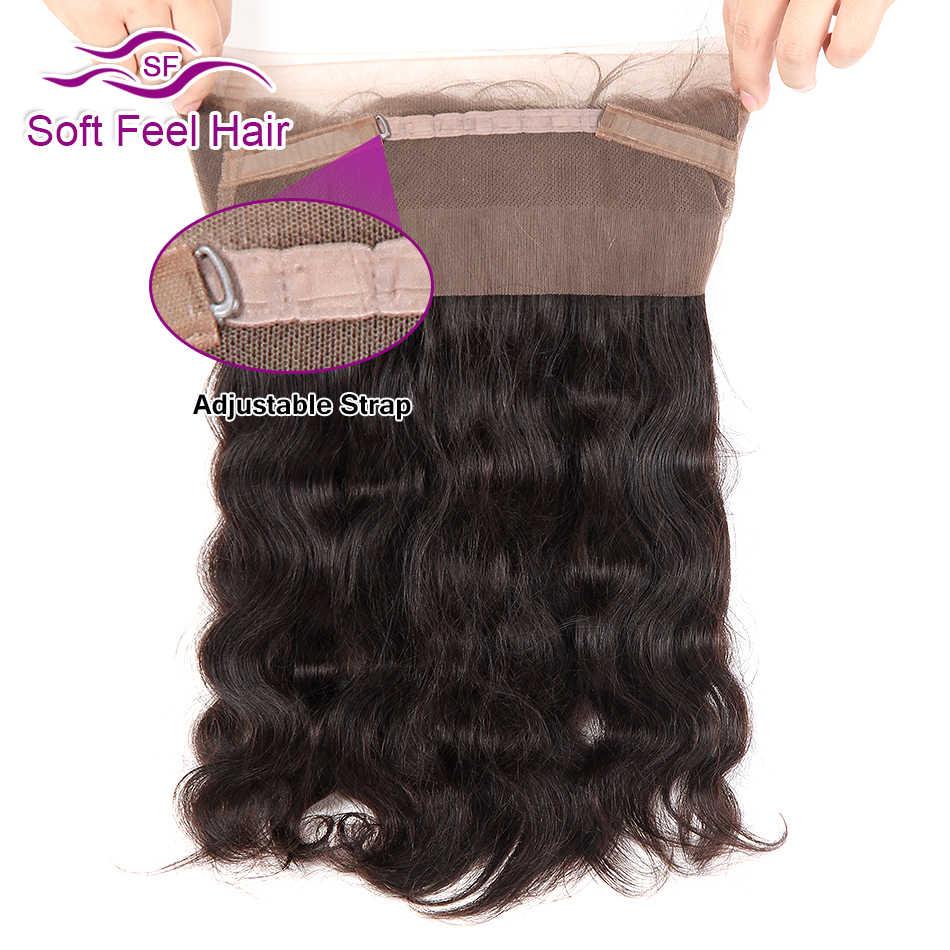 Miękkie w dotyku włosy 360 koronki Frontal z pakietem brazylijski ciało fala ludzkich włosów 3 zestawy z 360 Frontal zamknięcie Remy włosy 4 sztuk/partia