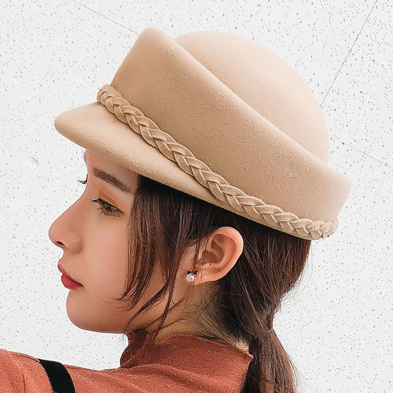 BINGYUANHAOXUAN 2018 Winter 100 Wool Fedora Hat For Women Formal Bowknot Pillbox Hat Party Fascinator Berets Painter Hat in Women 39 s Fedoras from Apparel Accessories