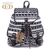 Coofit Vintage Womens Backpacks Retro Tribe Canvas School Bag Backpack For Girls Teens Female Travel Bagpack
