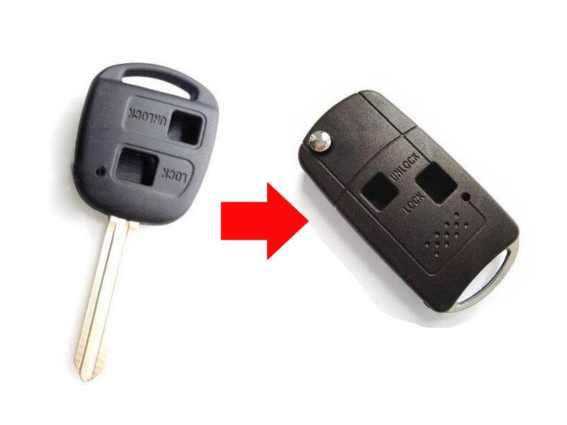 2 Botones modificado Flip plegable Remote key case Conchas para Greatwall Wingle 5 3 cowry H3 H5 clave FOB cubierta