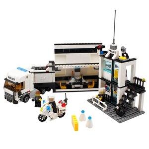 Image 3 - 511 шт. полицейский участок автомобиль грузовик строительные блоки кирпичи Обучающие совместимые Legoings город полицейские игрушки для детей легоe