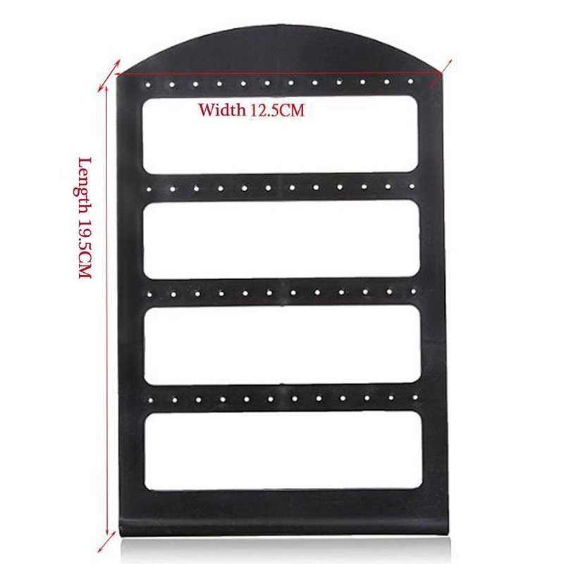 48 buracos jóias organizador suporte de plástico preto brinco titular pesentoir moda brincos exibição rack etagere