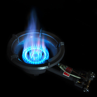 25KW big flame medium pressure gas liquefied stove commercial hotel restaurant lpg propane & butane cooking cooktop