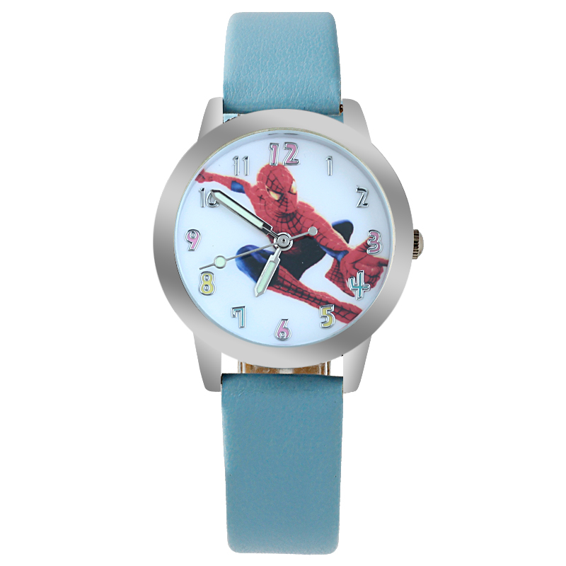 High Quality Waterproof Cartoon Quartz Watches For Student Boy Kids Child Gift Wristwatch Cool Spiderman Children Watch Children's Watches