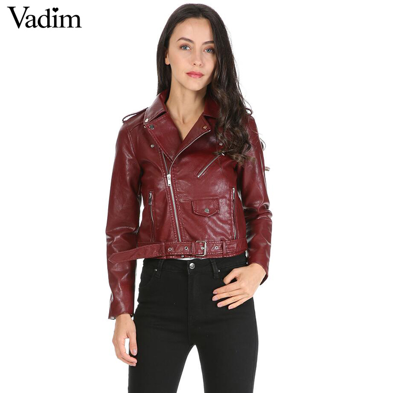 women candy color faux PU leather short motorcycle jacket zipper pockets sexy punk coat ladies casual outwear tops casaco CT1293 1