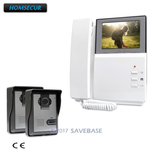 HOMSECUR 4.3inch Wired Video Security Door Phone with IR Night Vision for Home Security