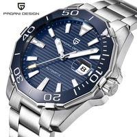 PAGANI DESIGN Men S Classic Diving Series Mechanical Watches Waterproof Steel Stainless Brand Luxury Watch Men