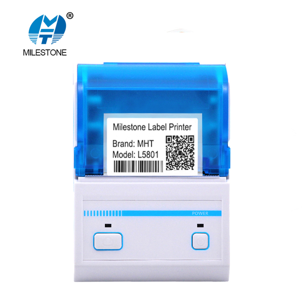2inch Pos Label Printer Bluetooth Barcode Generated Printing Edit Android Tablet with MHT Lable App Thermal Printer MHT-L5801 free shipping new 3 4 stainless steel solenoid valve nbr water air oil n c 120 c 2s200 20 dc12v