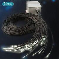 Maykit Cree Chip 5W White LED Fiber Optic Lighting Illuminators For Sauna Room With 105pcs 1.5mm 2m Black Sheated Fiber Harness