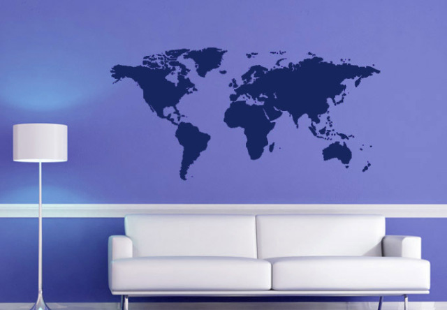 Atlas world map wall stickers black printed bedroom decorative atlas world map wall stickers black printed bedroom decorative poster removable adhesive vinyl space wall decal gumiabroncs Image collections