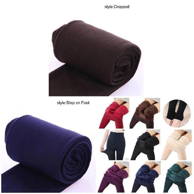 75bddf043ecdb9 2019 Newly Women Heat Fleece Winter Stretchy Leggings Warm Fleece Lined  Slim Thermal Pants TT@88