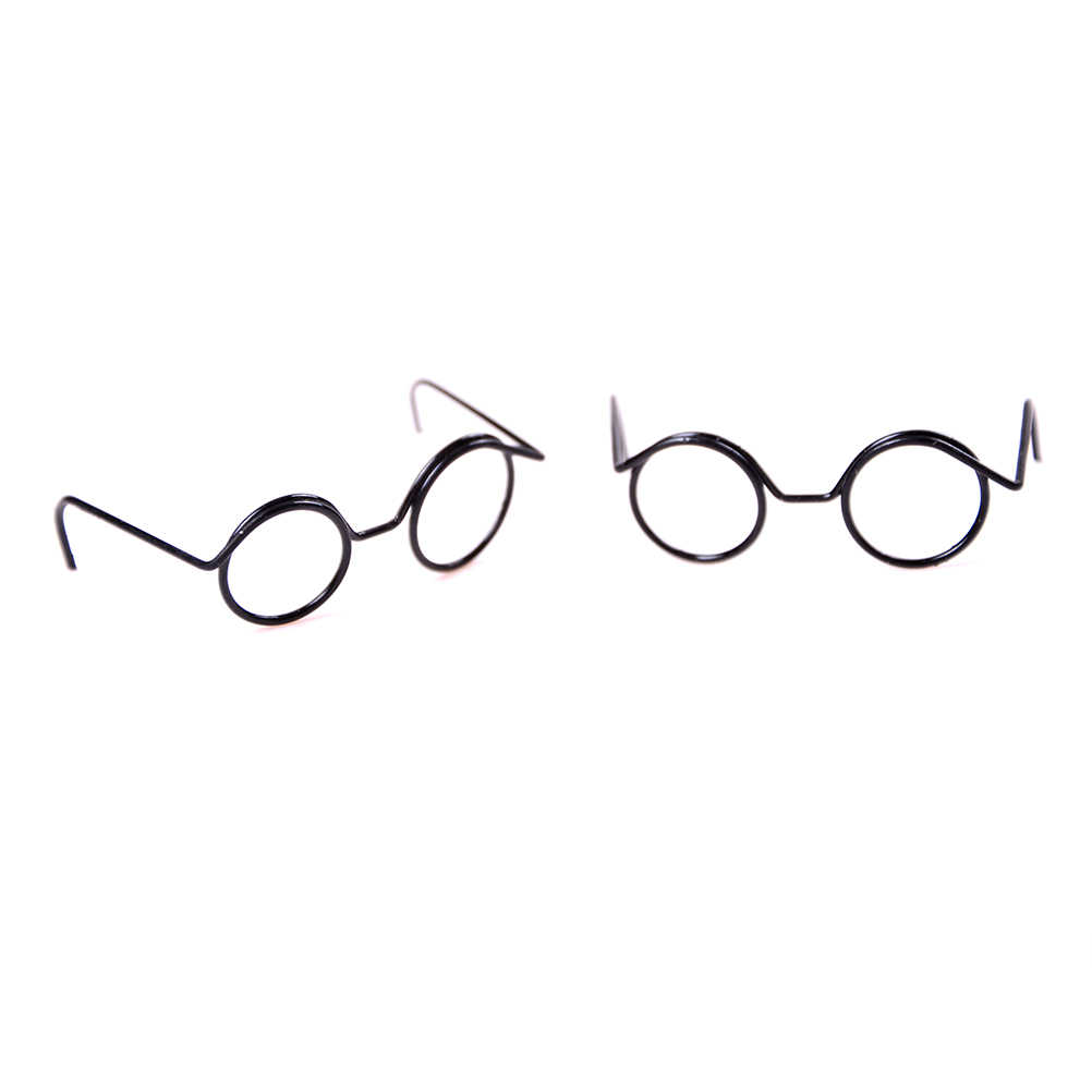 Fashion Round Frame Lensless Retro Cool Doll Glasses For   Doll 1/6 30cm 2PCS