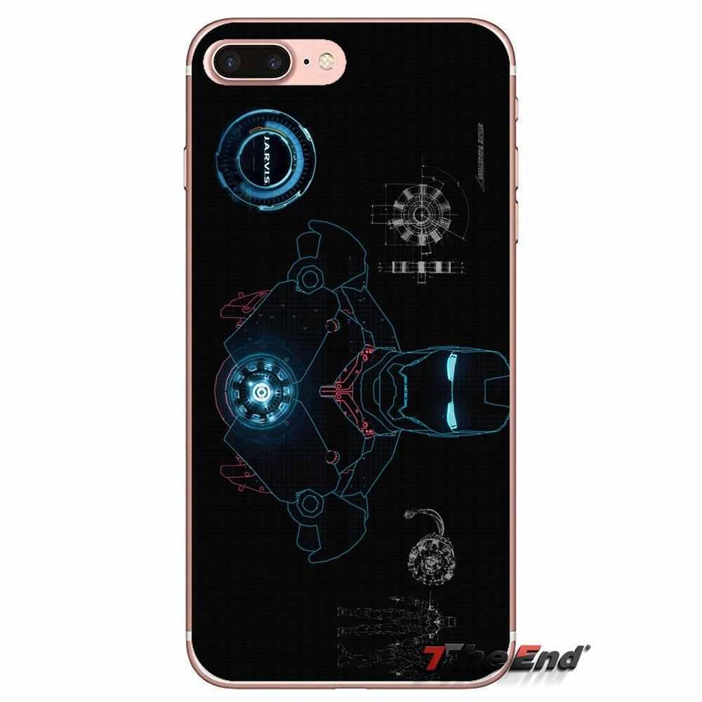 Pour iPhone X 4 4 S 5 5 S 5C SE 6 6 S 7 8 Plus Samsung Galaxy J1 J3 J5 J7 A3 A5 2016 2017 Stark Industries Iron Man réacteur Cas