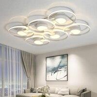 Nordic современный потолочный светильник светодио дный светодиодный Plafon Мода Алюминий потолочные светильники Lamparas де Techo кольца Luminarias Para Techo