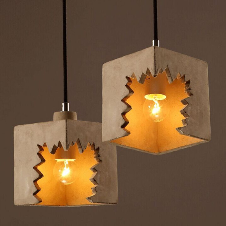 loft Art Cafe leisure bar personality toothed cement pendant light повседневные брюки maison margiela mp514776