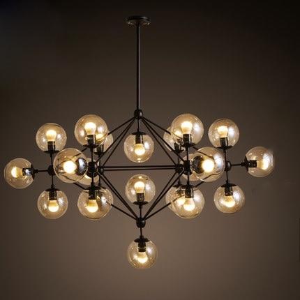 creative glass pendant lamp led modo chandelier dining room dna drop light industrial lighting i