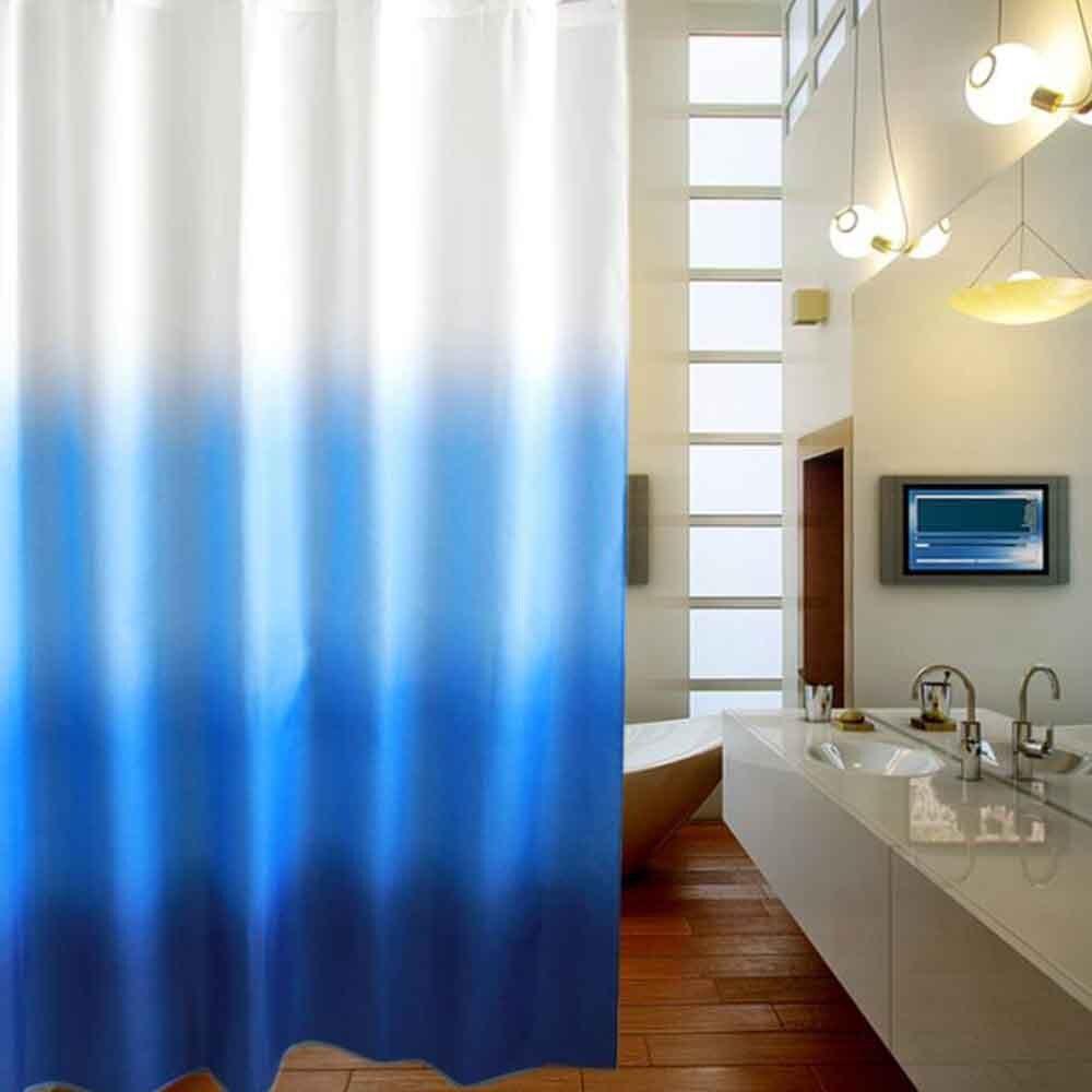 1 шт. прозрачная Водонепроницаемая занавеска для душа плесени Толстая галька зерно Rideau De Douche + 12 крючков Современная занавеска для ванной YL46 - 3