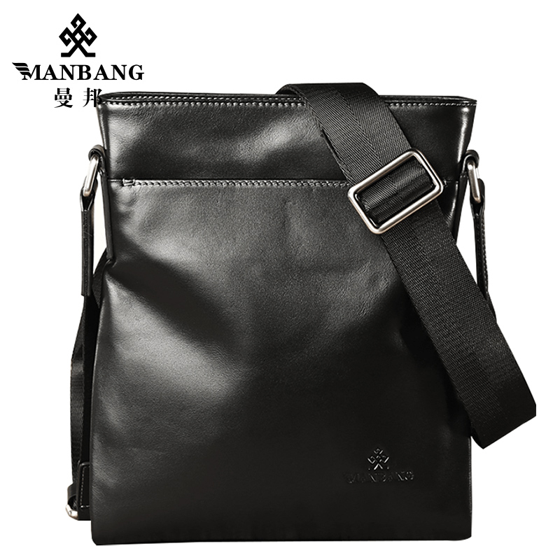 ФОТО ManBang 2017 Fashion Men Bags Genuine Leather Messenger Bag High Quality Man Brand Business Bag Men's Handbag Free Shipping