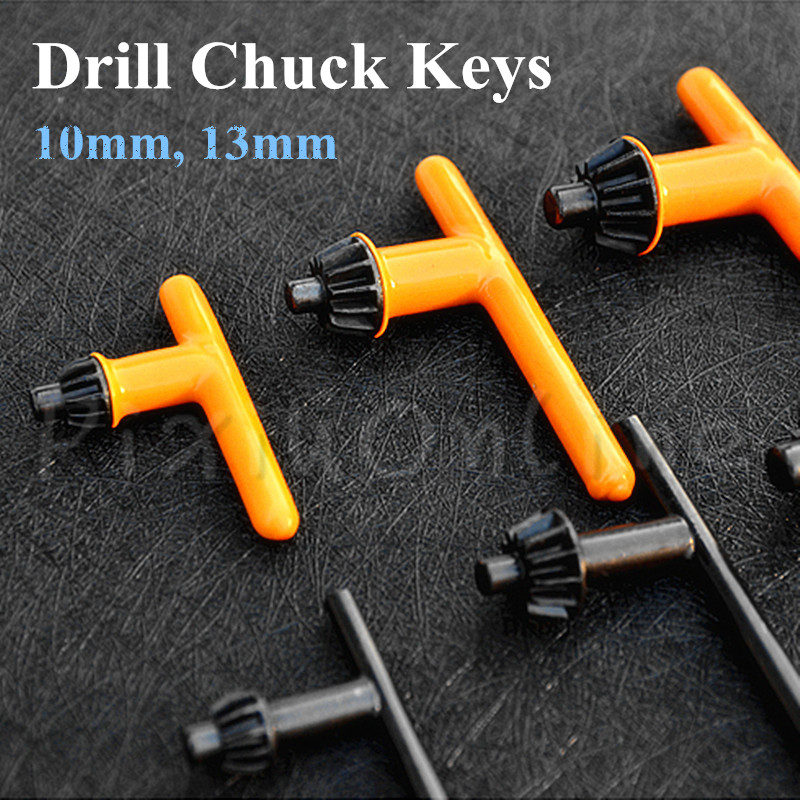 1PC ST074 Drill Chuck Keys Gum Cover Electric Hand Drill Chuck Wrench Applicable To 10MM/13MM Drill Chuck Free Shipping