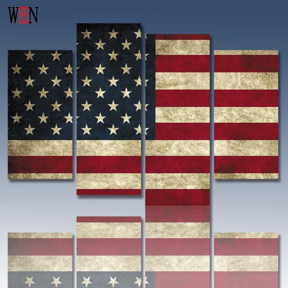 Niedlich Amerikanische Flagge Gerahmte Kunst Galerie ...