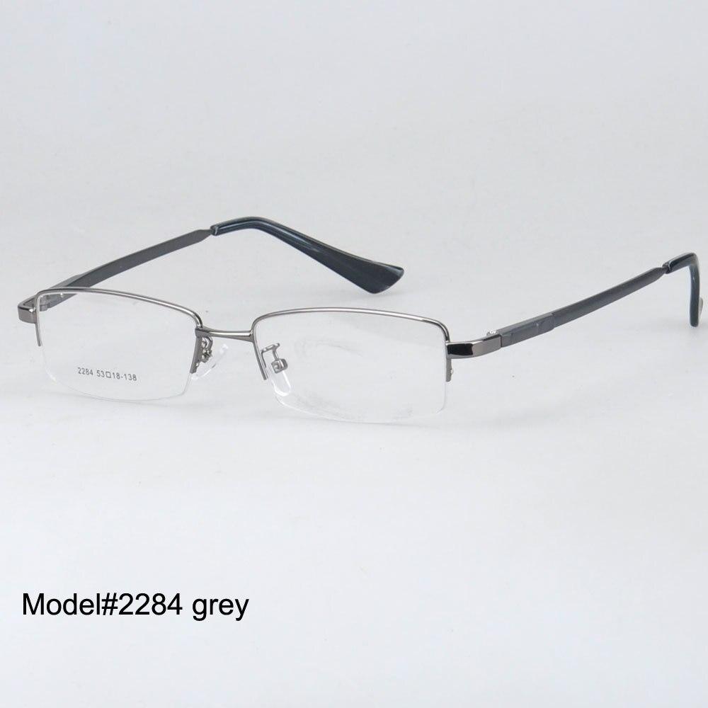 346b4738285b7 Magia Jing 2284 estilo Popular óculos óculos de prescrição homens armações  metade aro de liga de metal