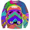 2017 Бренд 3D толстовка Мужчины Забавный Звездные Войны Дизайн Хип-Хоп Толстовка Мужчины Пуловеры Мужчины Пуловер Sudaderas Hombre Размер S-5XL