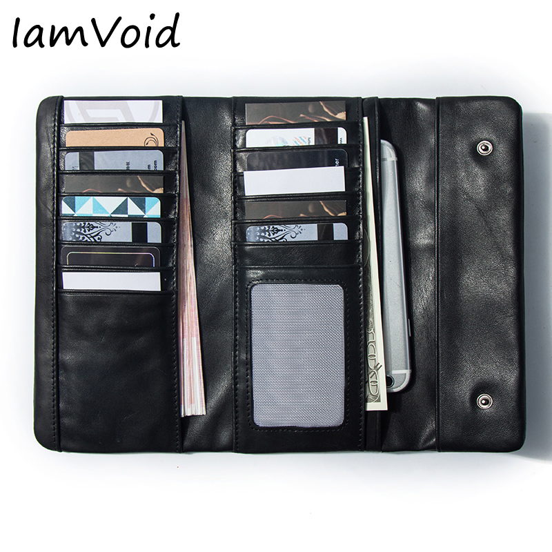 IamVoid High Quality Genuine Leather Wallet Soft Leather Purse Functional first Premium Real Leather Credit Card