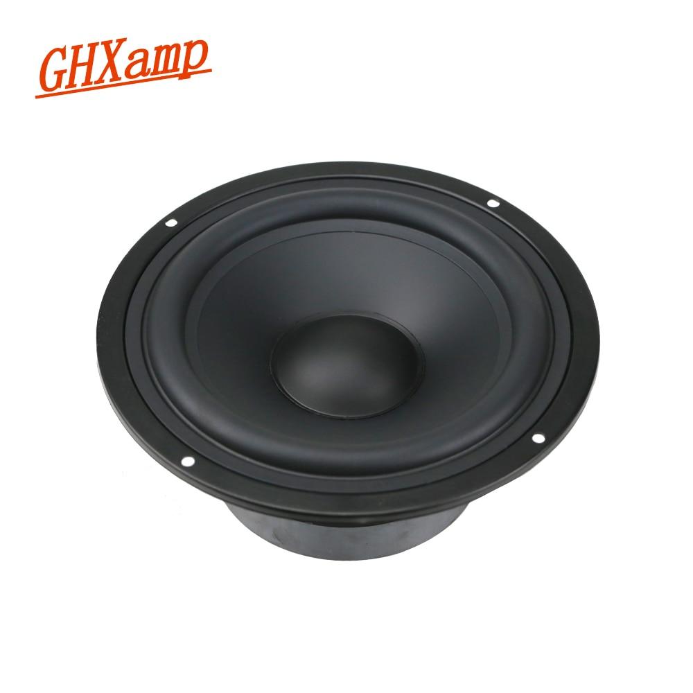 GHXAMP 6.5 INCH Woofer Bass Midrange Speaker Units HIFI Desktop PA Speaker Home Theater LoudSpeaker 8ohm 130W 1PCS ghxamp 150w 3 way crossover speaker bass tweeter midrange for 10 inch woofer speaker home theater filter 12db 45hz 20khz 2pcs