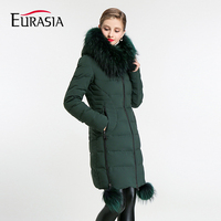 EURASIA 2017 Women S Mid Long Winter Jacket Stand Collar Hooded Design Warm Practical Parka Y170013