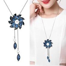 RAVIMOUR Blue Crystal Flower