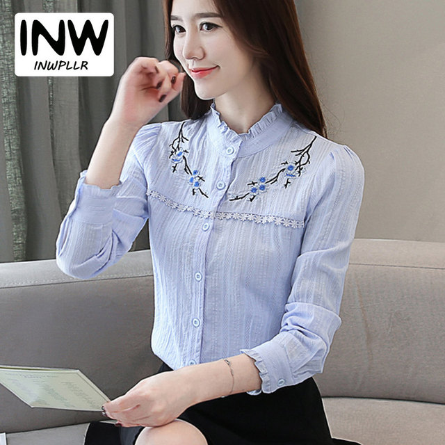 Aliexpress.com: Comprar Blusa bordada Mujer Casual encaje
