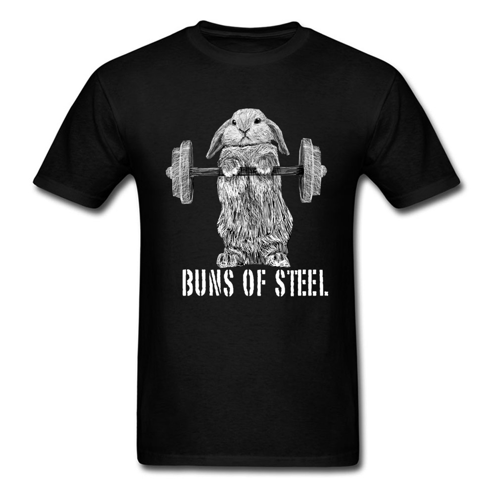 Buns Of Steel Weight Otter Funny Tshirt Black Weightlifting Animal New Pure Cotton Tops T Shirt Cotton Fitness Bodybuilding