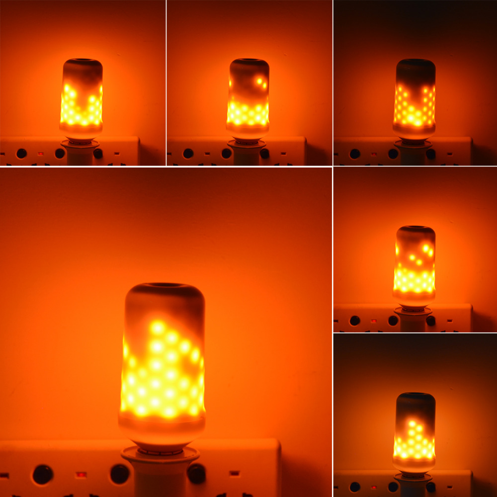 Flame Led Lamp E27 E27 E26 Led Lamp Light 3528smd 110v 240v Simulation Flame Effect Emulation Corn Bulb Bombilla Fire Flicking Decorative Lighting In Led Bulbs Tubes