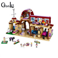 GonLeI 2017 NEW BELA 10562 Girls Friends Heartlake Riding Club Building Blocks 594Pcs Kids Model