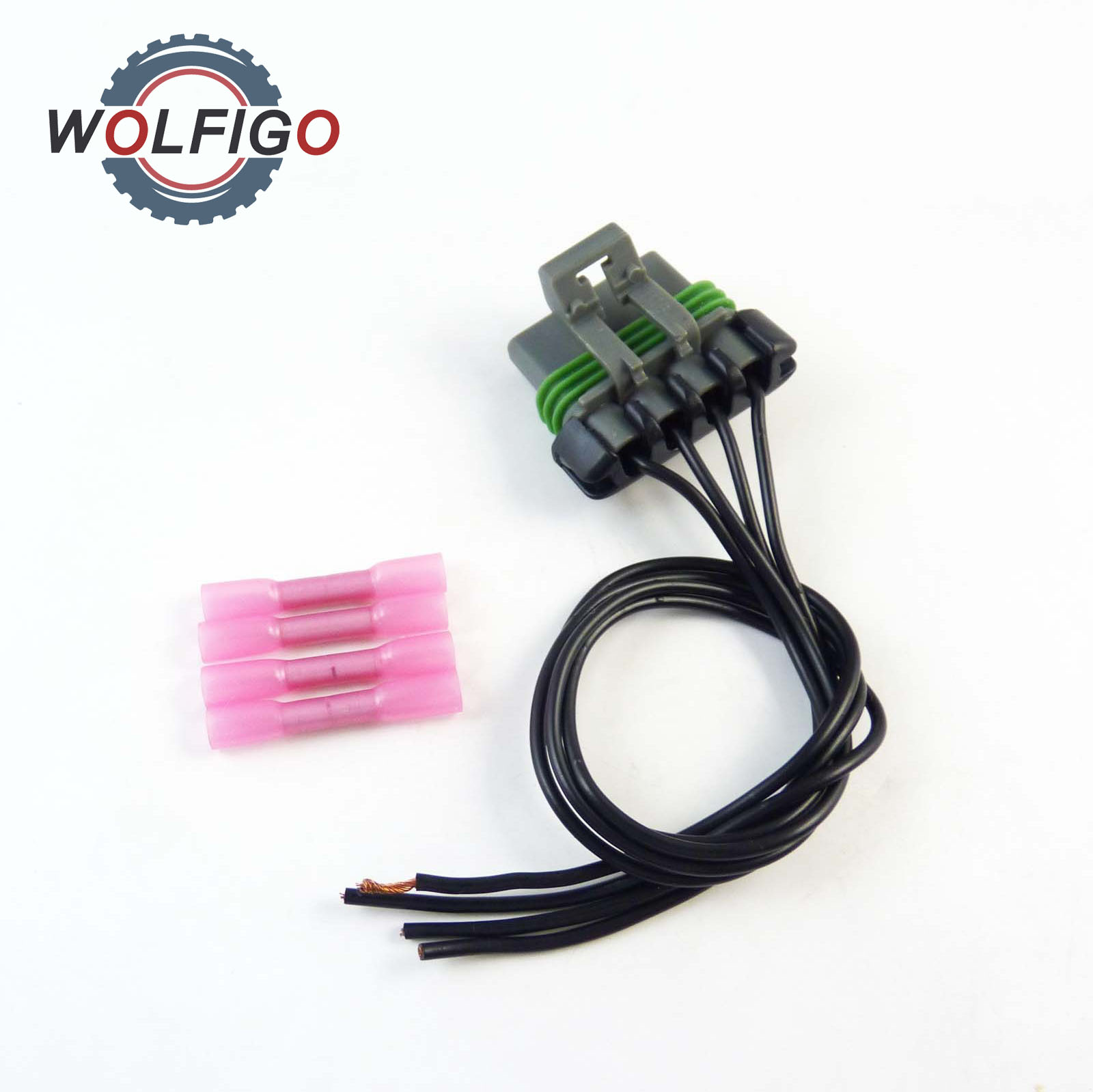 Wolfigo New 5pcs Ser For Chevrolet Colorado Gmc Canyon Blower Motor Electrical Wiring 2005 Hvac Resistor Connector Pigtail Harness Fit 1p1560 Pt5909
