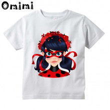 ФОТО kid miraculous ladybug cartoon design t shirt children casual tops boys and girls funny  great t-shirt,hkp5149