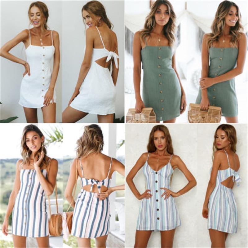 woman summertime Bohemian style womens wear dress Maxie dress sleeveless braces dress square collar fastener printing minidress