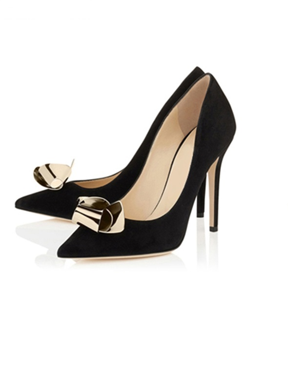 Sexy Pointed toe Metal Decoration High Heel Women Pumps Gold Black Bling Bling Shallow Slip-on Shoes Cut-out Party Dress Shoes 2018 women yellow high heel pumps pointed toe metal heels wedding heel dress shoes high quality slip on blade heel shoes