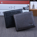 2017 Hot Sale Mens Crocodile Black Real Pu Leather Bifold Clutch Wallets Purses Coin Pouch ID Credit Cards Holder Dollar Package