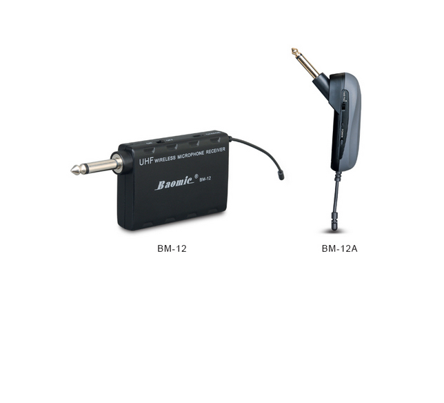 professional baomic bm12a guitar wireless system audio uhf wireless instrument system microphone. Black Bedroom Furniture Sets. Home Design Ideas