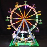 Led Light For Lego 10247 Building Blocks bricks Creator City Street Ferris Wheel Compatible 15012 Toys( light with Battery box)
