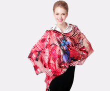 100% long silk scarf women scarf shawl  high-grade brand designer scarf chinese style oil painting ink and wash painting-b157