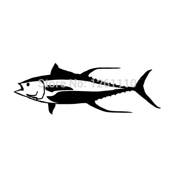 Yellow fin tuna fish vinyl sticker decal ocean sport for Fishing stickers for trucks