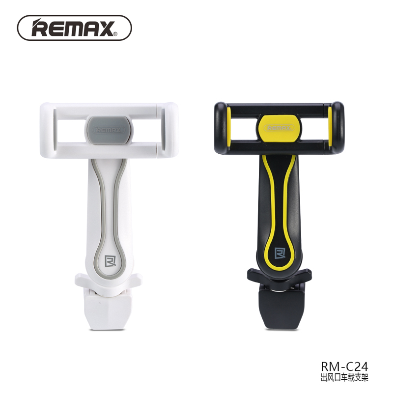 Remax C24 Universal Mobile Holder 360 Degree Rotating Car Air Vent Mount Phone Bracket Vehicle Air Outlet Adjustable Phone Stand
