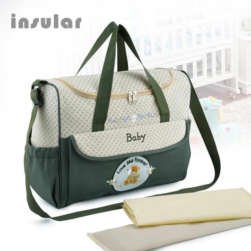 Hot Sales Cartoon Bear Högkvalitativa Baby Blöjor Väskor Maternity Bag Multifunktionella Storkapacitet Tygväska Messenger Väskor